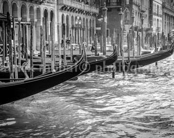 Romantic Venice Gondolas Photo Venice Canal Photo Fine Art Photography European World Charm Romantic Venice Venezia Italy