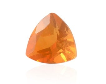 Fire Opal Loose Gemstone Trillion Cut 1A Quality 5mm TGW 0.24 cts.