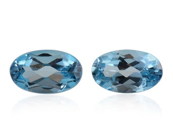 London Blue Topaz Loose Gemstones Oval Cut Set of 2 1A Quality 5x3mm TGW 0.45 cts.