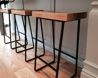 FREE SHIPPING Factory Style Reclaimed Wood Bar Stools with