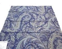 "Blue Paisley Fabric Duralee Fabrics 42057 Blue 24"" x 24"" Linen Rayon + FREE SAMPLES!!!!"