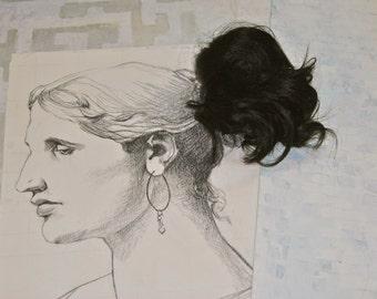 short black ponytail