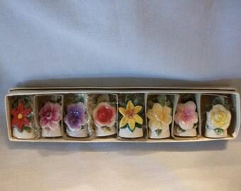 Ceramic Flower Place Card Holders