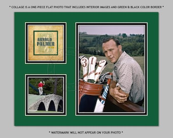 ARNOLD PALMER - Digital Photo Collage - available in sizes 8x10 11x14 or 16x20 - PGA Golf Tour Legend Picture Print Photograph