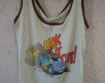 Size XL (48) ** 1970s Truck Tank Top Shirt (Double Sided)