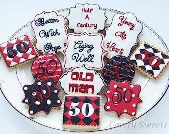 Milestone Birthday Cookies