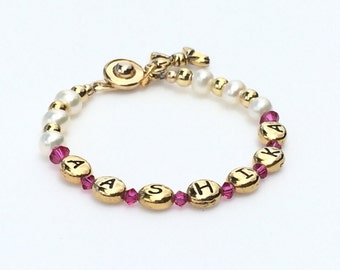 Personalized baby gifts etsy pink and gold jewelry newborn baby gift personalized baby gift baby girl coming negle Choice Image