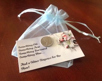 Lucky Wedding Sixpence and Giftcard