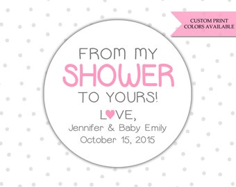 From my shower to yours stickers - Soap labels - Baby shower soap favors - Baby shower stickers (RW028)