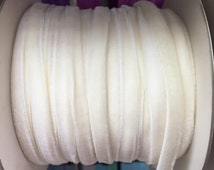 "Elastic Ivory Velvet Ribbon 7mm(1/4"") & 10mm(3/8"")"