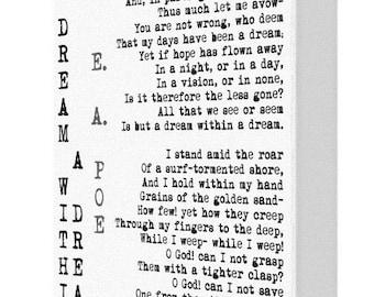 CANVAS PRINT: A Dream Within A Dream Edgar Allan Poe Canvas Print