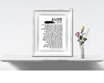 Alone Edgar Allan Poe Poem Print