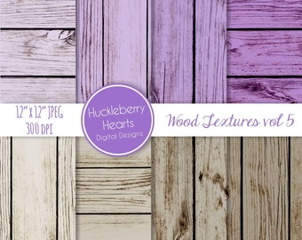 Puple and Brown Wood Backgrounds, Digital Scrapbook Paper, Digital Wood Paper, Digital Wood Textures