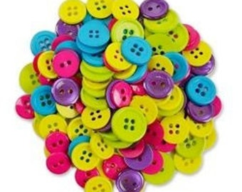 Buttons, Assorted Craft Buttons, Clothing Buttons, Sewing/Craft/Diy Buttons, Quilting Buttons, Primary Colors Round Buttons, Shank Buttons