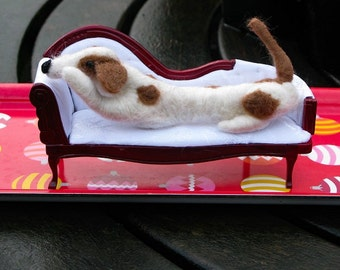 Beagle in a Chaise Lounge