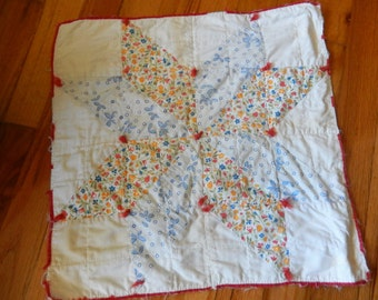 Small Antique Vintage Baby Doll Quilt Square