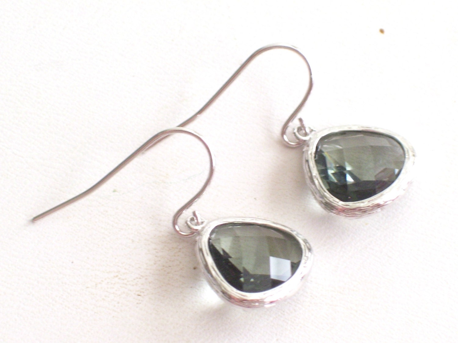 silver circle by hammered handmade earrings drop dangle everyday jewelry simple sterling lizardi
