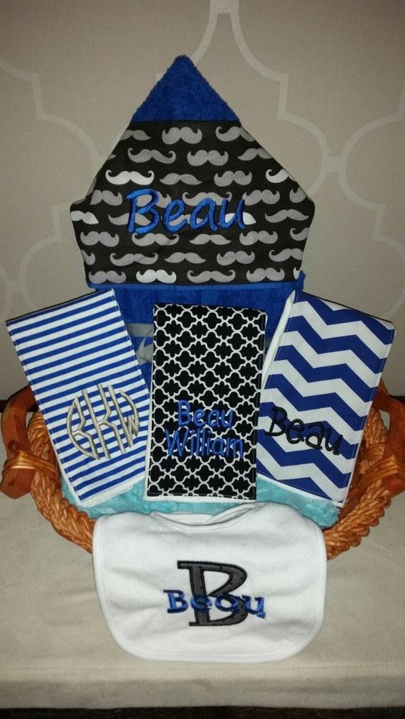Baby Gift Basket Etsy : Baby gift basket custom for boy or girl by multiplemonograms