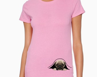 Peeking Pug T-Shirt