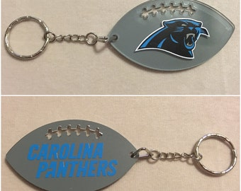 Carolina Panthers Football Acrylic Keychain