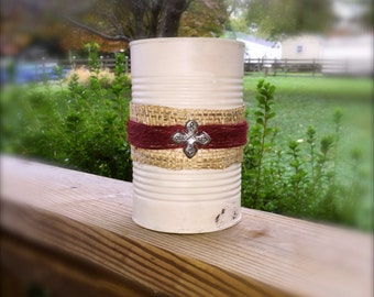 Upcycled Can Organizer, Ivory