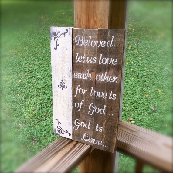 In Love God Each Other: God Is Love Love Each Other Pallet Sign By SelfieChicBoutique