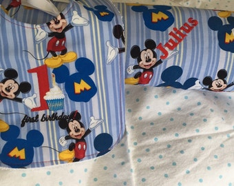 Made to order personalized crib blanket & bib