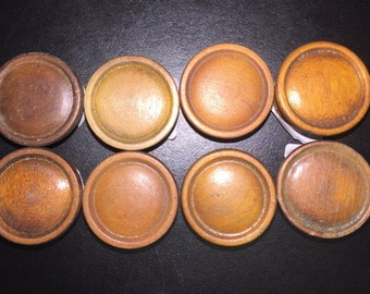 6  Multi-finished/color variation, wooden knobs, pulls, for dresser, drawer, cabinets Item509b