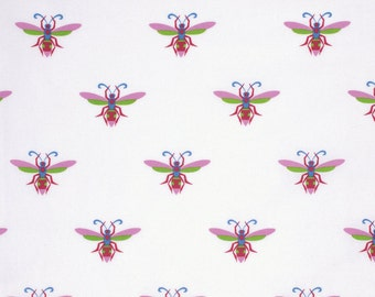 Wasp in Fuschia, Gregory's Garden Collection by Jane Sassaman for Free Spirit Fabrics 4199