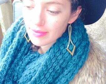 Chev Edge Earrings