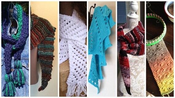 Scarves eBook -- 6 unique loom knit patterns