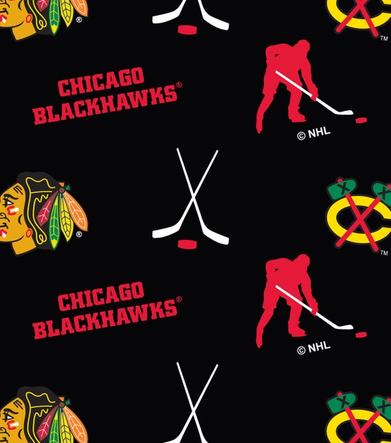 Chicago Blackhawks Fleece Blankets, Blackhawks Blanket, NHL Throw Blanket, NHL weighted blankets, Blackhawks plaid fleece fabric