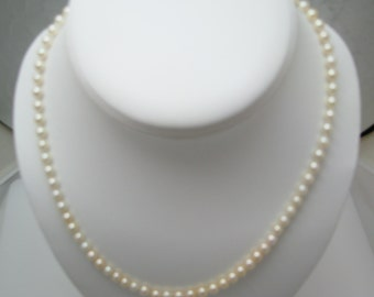 Gorgeous Graduated Pearl Necklace with a 14k Gold clasp