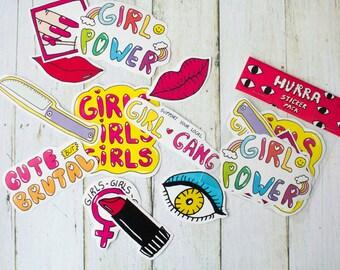 Girl Gang Sticker Pack / Girl Power / Feminist Stickers