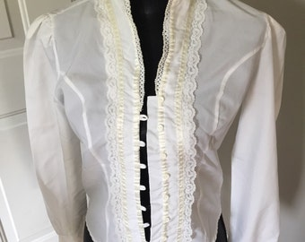 Vintage 80s blouse, small