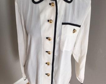 Oleg Cassini  size 12 100% silk blouse