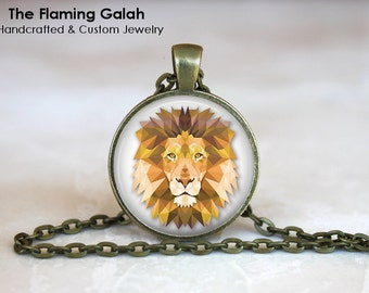 Geometric Lion Etsy