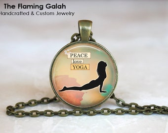 COBRA YOGA POSE Pendant • Yoga Gift • Yoga Jewelry •Vinyasa Yoga •  Yoga Practice • Love Yoga • Gift Under 20 • Made in Australia (P0364)