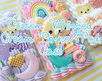 Kawaii Decoden Custom Whipped Cream Phone/Device Case