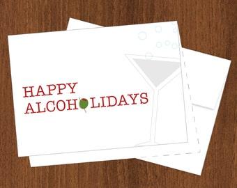 Happy Alcoholidays - Funny Christmas Cards - 4bar