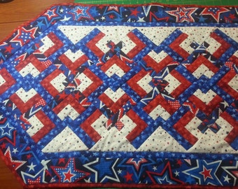 Patriotic Quilted 4th of July Table Runner