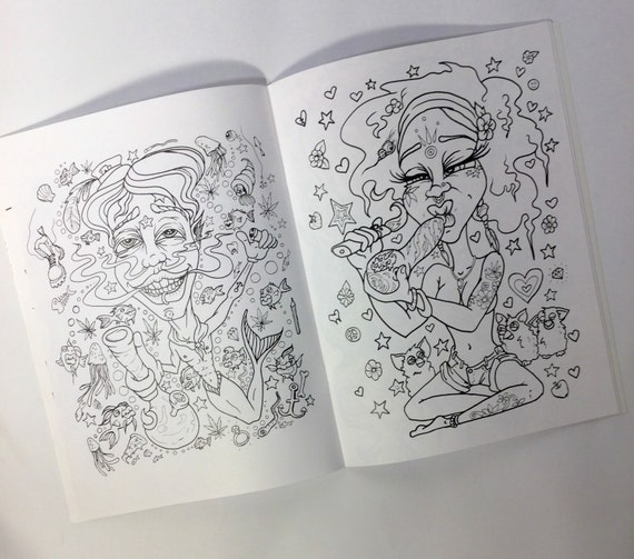 stoner coloring pages - stoner coloring book for adults weed stuff adult by