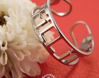 FREE SHIPPING Fill it Ring stainless steel Ring Custom
