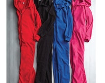 Adult Onesie Pajamas - Full Length Fleece Lounger with Zipper- Personalized one piece pajamas, sleepwear, hooded embroidery