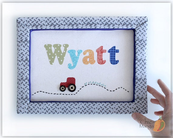 Baby Boy Gifts With Name : Personalized kids wall art baby boy gift name sign for