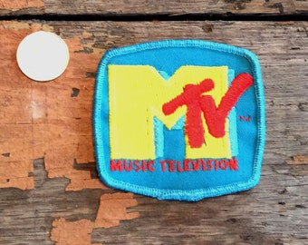 NOS Vintage Retro MTV Music Television 1980's Patch Jacket Hat Vest Backpack