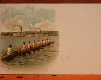 Raphael Tuck and Sons SPORT Postcard No. 509 ROWING