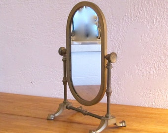 Vintage Dresser Top/Shaving Mirror