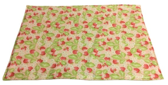 Strawberry Print Placemats