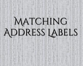 Custom Address Label To Match ANY Invite, Address Labels, Return Address Labels, Custom, Match Invite, Return Address Labels to Match Invite